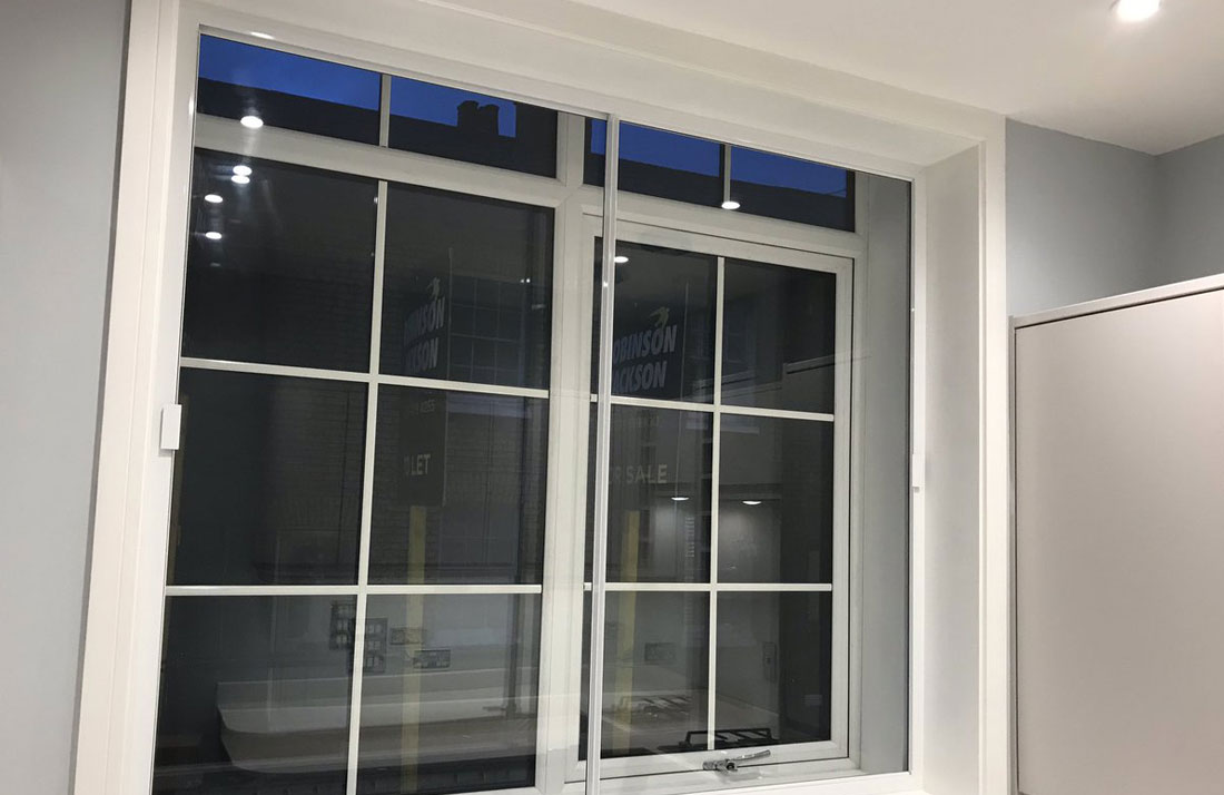 horizontal secondary double glazing